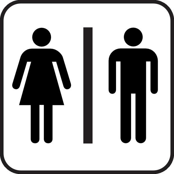 Sign Bathroom Wc Man Woman Clip Art At Clker Com Vector Clip Art Online Royalty Free Public Domain