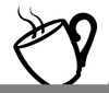Steaming Coffee Cup Clipart Image