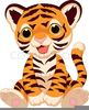 Cartoon Baby Tiger Clipart Image