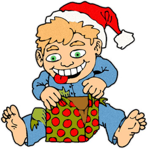 Boy At Christmas | Free Images at Clker.com - vector clip ...
