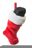 Christmas Stocking Coal Clipart Image