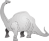 Brachiosaurus Looking Behind Clip Art