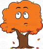 Cartoon Fall Leaves Clipart Image