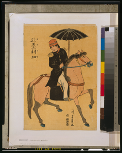 American Soldier Riding Horse Image