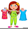 Getting Dressed For School Clipart Image