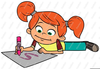 Child Coloring Clipart Image
