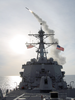 A Tomahawk Land Attack Missile (tlam) Is Launched From The Guided Missile Destroyer Uss Winston S. Churchill.  W Image