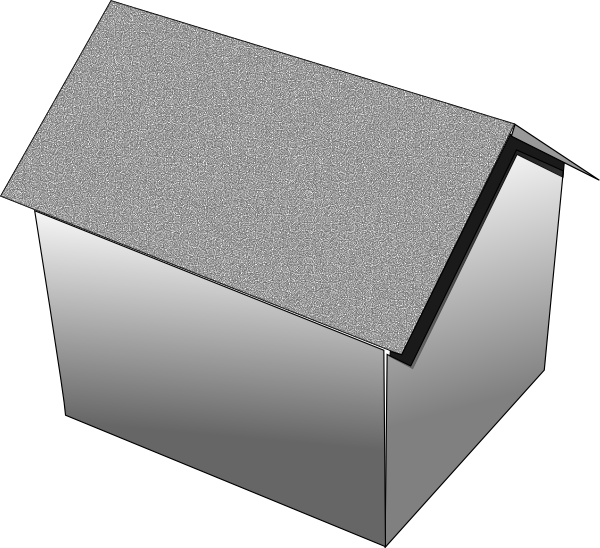Picture Of A Gable Roof: Gable Roof Clip Art At Clker.com