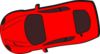 Red Car - Top View - 190 Clip Art