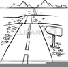 Road Clipart Black And White Image