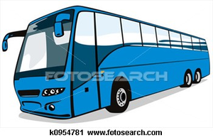 Blue Coach Bus K Image