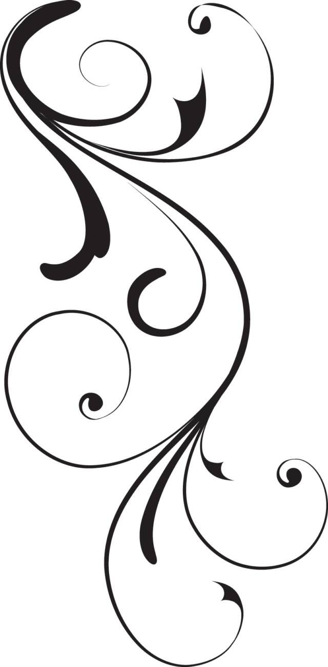 Black swirl op x free images at vector clip for Swirl tattoo designs