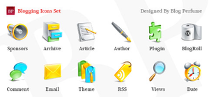 Blogging Icons Image
