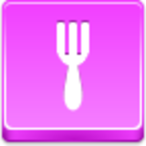 Free Pink Button Fork Image