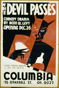 The Devil Passes Comedy Drama By Benn W. Levy : Opening Dec. 26. Image