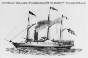 Steam Boats President & Benj. Franklin Image