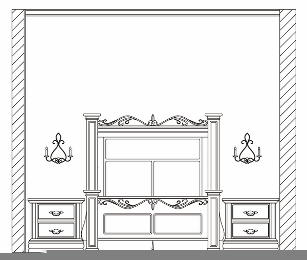 Bedroom Elevation Drawings Free Images At Clker Com Vector Clip