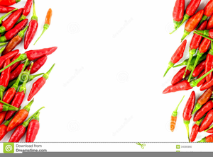 Clipart Chili Peppers Border Image