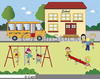 Free Clipart Children At School Image