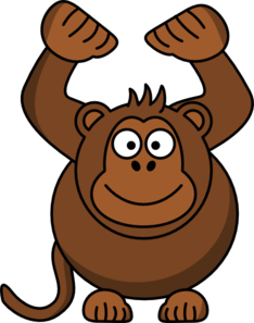 Monkey With Arms Up Clip Art