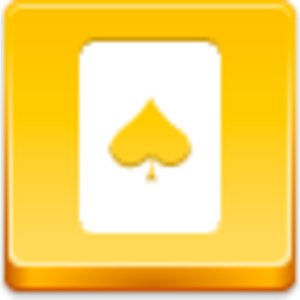 Free Yellow Button Spades Card Image