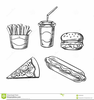 Pizza And Soda Clipart Image