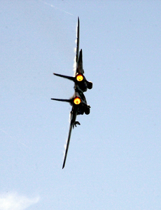 Tomcat Makes A High-speed Turn In Full Afterburner Image