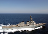 The Guided Missile Destroyer Uss Arleigh Burke (ddg 51) Conducts Underway Operations In Support Of Operation Iraqi Freedom. Image