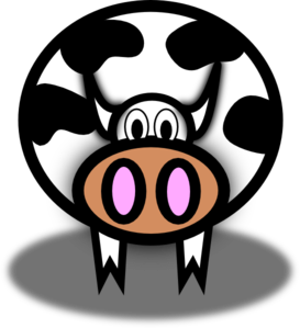 Pink Nostril Cow Clip Art
