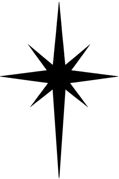 christmas north star clipart