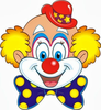 Funny Clown Clipart Image