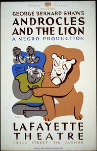 Federal Theatre Presents George Bernard Shaw S  Androcles And The Lion  A Negro Production / Halls. Image