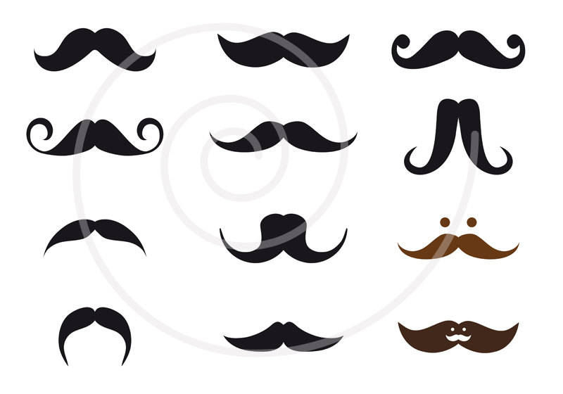free vector mustache clip art - photo #36