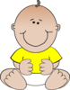 Yellow Baby Sitting Clip Art