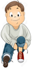 Clipart Child Tying Shoes Image