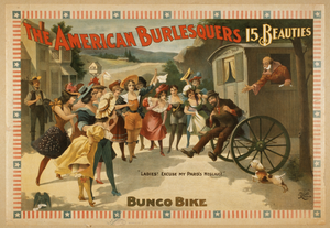 The American Burlesquers 15 Beauties : Bunco Bike. Image