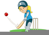 Boy Playing Cricket Clipart Image