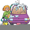 Car Being Washed Clipart Image
