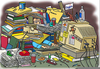 Messy Office Desk Clipart Image