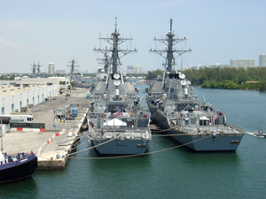 Ships Arrive In Ft. Lauderdale For Fleet Week 2002 Image