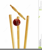 Cricket Bat And Ball Clipart Image