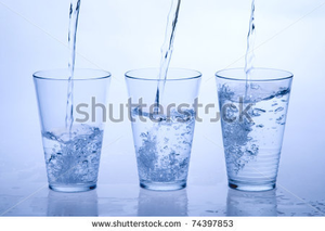 Stock Photo Three Water Glass Image