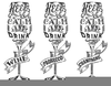 Black And White Wine Glass Clipart Image
