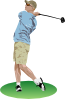 Golf Driver Swing Clip Art