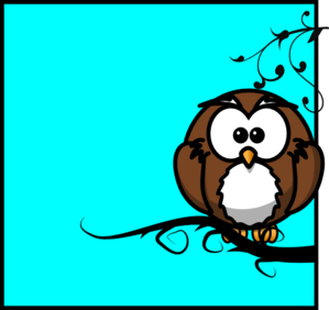 Owl On Branch 7 Clip Art