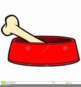 Bowl Dog Bone Clipart Free Images At Clker Com Vector