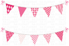 Free Pink Bunting Clipart Image