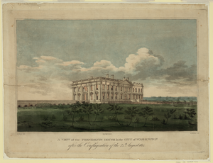 A View Of The Presidents House In The City Of Washington After The Conflagration Of The 24th August 1814  / G. Munger Del. ; W. Strickland Sculp. Image
