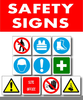 Industrial Safety Signs And Symbols Clipart Image