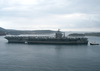 The Aircraft Carrier Uss Theodore Roosevelt (cvn 71) Prepares For A Port Visit In Souda Bay, Crete, Greece Image